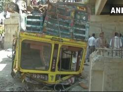 Killed After Truck Falls Into Drain In Gujarats Bhavnagar