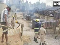 Massive Fire Breaks Out At Oil Factory In Kolar