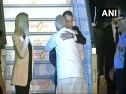 French President Emmanuel Macron Arrives A Four Day India Visit