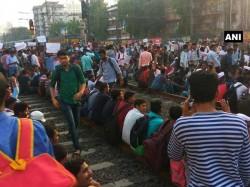 Mumbai Rail Roko By Job Seekers Services Between Kurla Dadar Suspended