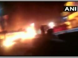 Mp Petrol Tanker Catches Fire In Narsinghpur Alert Driver Averts Tragedy