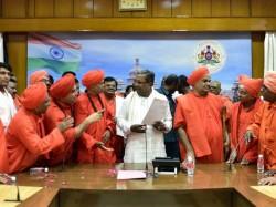 Veerashaiva Mahasabha Opposes Siddaramaiah Government S Decion