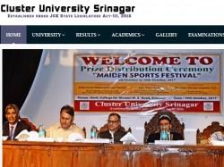 Cluster University Srinagar 1st Semester Results Declared