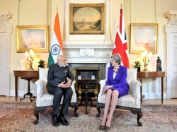 Modi Meets May Says Happy That Uk Is Part Solar Alliance