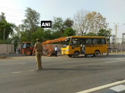 Children Injured After School Bus Meets With An Accident In Jaipur