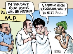 Rahul S Politics Over Farm Distress Full Promises Minus Del