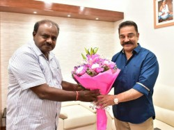 Kamal Haasan To Discuss Cauvery Issue With Hd Kumaraswamy Today