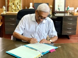 Parrikar Returns To India Starts His Day With Visit To Mahalaxmi Temple