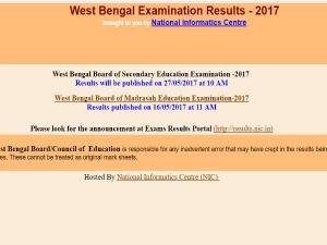 WBBSE Madhyamik Pariksha Class 10 Results 2017 to be declared tomorrow, check at 10 am here
