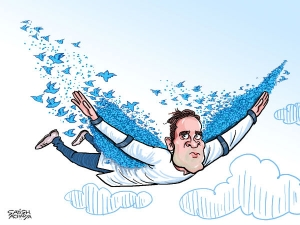 Twitter popularity helps Rahul fly high