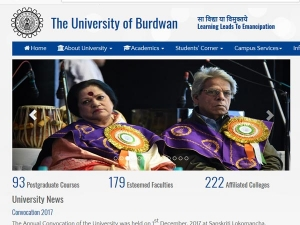 Burdwan University 3rd year BCom, BSc Part 2 results declared