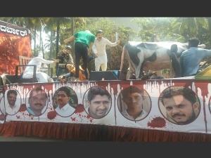 Karnataka polls: With Paresh Mesta's parents by their side BJP launches Janasuraksha Yatra
