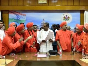 Veerashaiva Mahasabha opposes Siddaramaiah government's decision on Lingayat row
