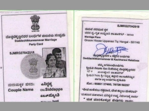 In poll bound Karnataka, this couples wedding invite looks like a voter ID: Find out why