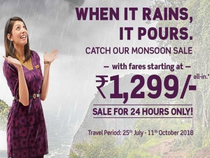 Vistara airlines: 24 hour only Monsoon Flash Sale