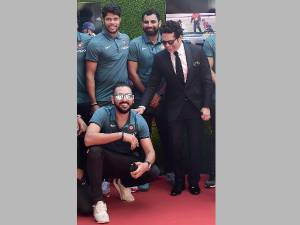 Cricketers attend Sachin movie screening
