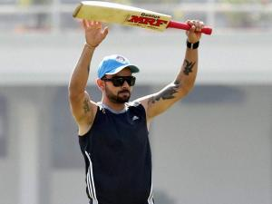 Team India trains wearing black arm bands
