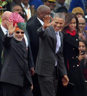 Obama in India: What happened on Day 2