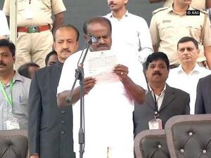 HDK's swearing-in ceremony: Celebration comes with baggage of expectations