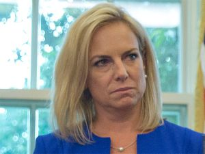 US Homeland Security secy faces protest