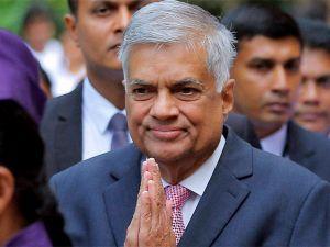 Sacked Lankan PM Wickremesinghe receives