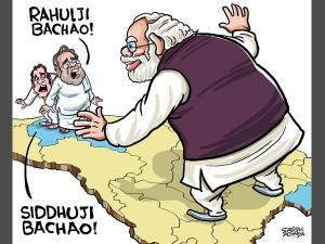 Rahul Gandhi S Caricature Taken Down Cong Claims Cartoonist