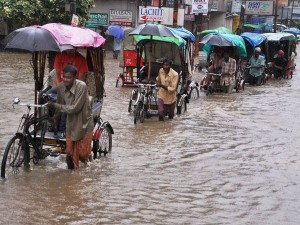 Bus With 47 Passengers Stuck Flood Water Andhra