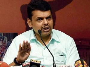 Fadnavis Targets Cong Ncp Over Shivaji Memorial Project Del