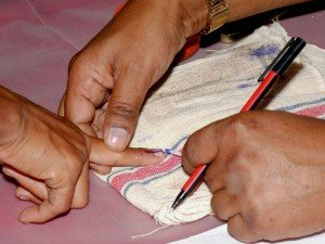 Banks Asked Apply Indelible Ink On Right Hand Index Finger