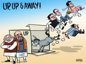 Cartoon It Is Up Up Away Bjp Up