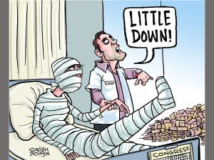Doctor Rahul Offers Little Help To Severely Injured Congres Cartoon March 18