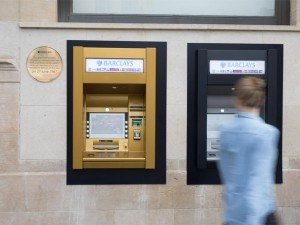 Atms 50th Birthday London Bank Decorate Cash Machine In Gold