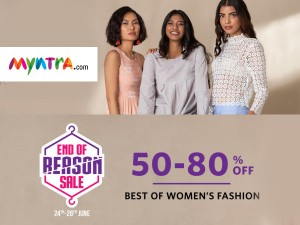 Myntra End Of Reason Sale 24 26 Jun Get Up 50 80 Percent Off