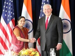 Swaraj Meets Tillerson Discusses Range Issues Including Terrorism