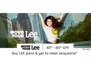 Want 60 Off On Your Next Order Denim Fest At Amazon Chance To Meet Jacqueline Fernandez