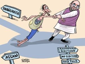 Assam Nrc Is An Electoral Fodder For Bjp Daily Cartoon Aug6