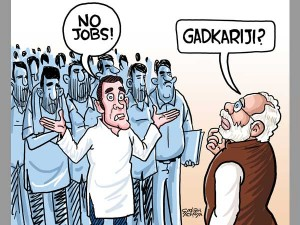 Gadkaris Remark Leaves Bjp On Sticky Wicket Daily Cartoon Aug7