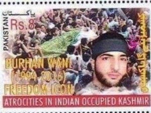 True Colours Out Pakistan Issues Postal Stamp Glorifying Burhan Wani As Freedom Fighter