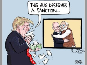 India Us And Russia Triangular Love Story Daily Cartoon Oct8