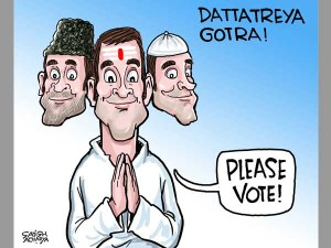 Rahuls Gotra Politics Daily Cartoon Nov29