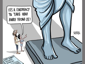 Farm Loan Waiver Or Ram Statue