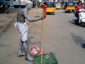 Agriculture Crisis Elderly Farmer Dressed Mahatma Gandhi Andhra Pradesh Killed By Car