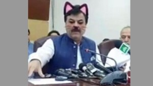 Imran Khans Party Goes Live With Cat Filter On And The Result Is Hilarious
