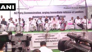 Kashmir Detentions Opposition Parties Protest At Delhis Jantar Mantar
