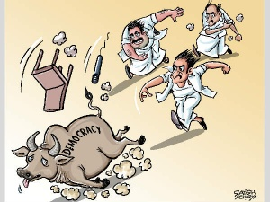 Tamil Nadu politicians chase away the bull of 'democracy'