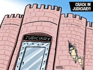Politics enters justice