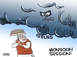 Modi ji needs an umbrella for monsoon