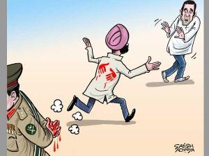 Pakistan's bloody hands hug  Sidhu