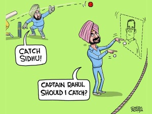 Who is Sidhu's captain?