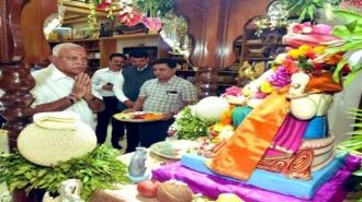 BSY visits Maha CM's residence